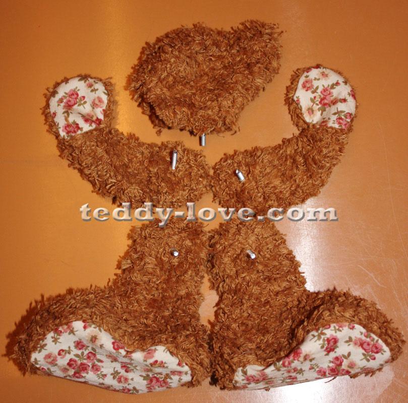 Крепеж деталей для мишки Тедди