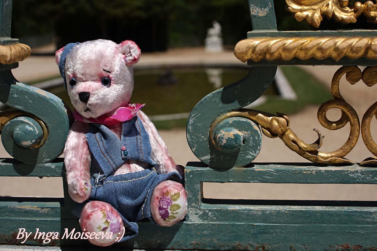 Мишка-тедди по выкройке Г.Алентьевой, Версаль, Франция