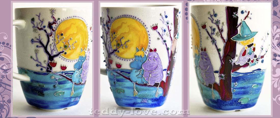 Мастер-класс Роспись по стеклу и керамике для начинающих. Роспись кружки