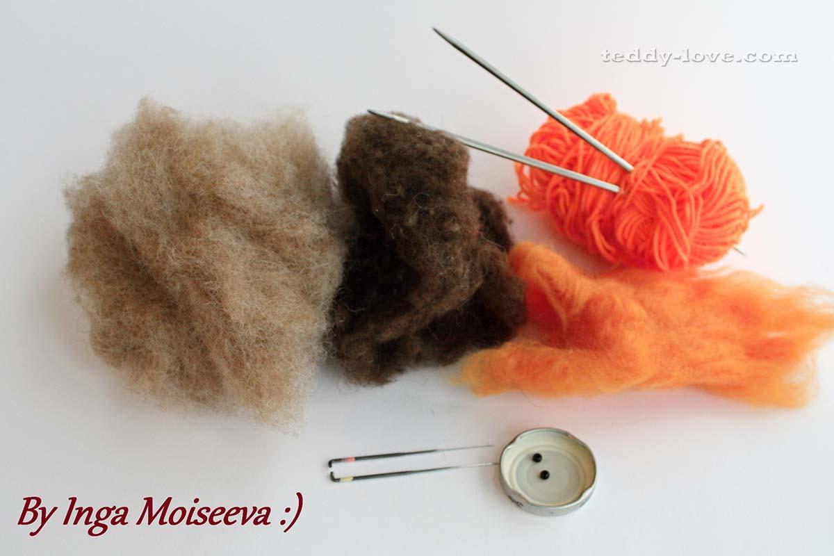 Материалы и инструменты для валяния из шерсти