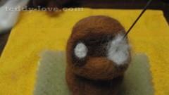 Мастер - класс мишка из шерсти своими руками, валяние из шерсти, игрушка из шерсти сделать самостоятельно, мастер-класс сухое валяние