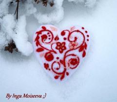 Сердечко из шерсти - сделано с любовью!