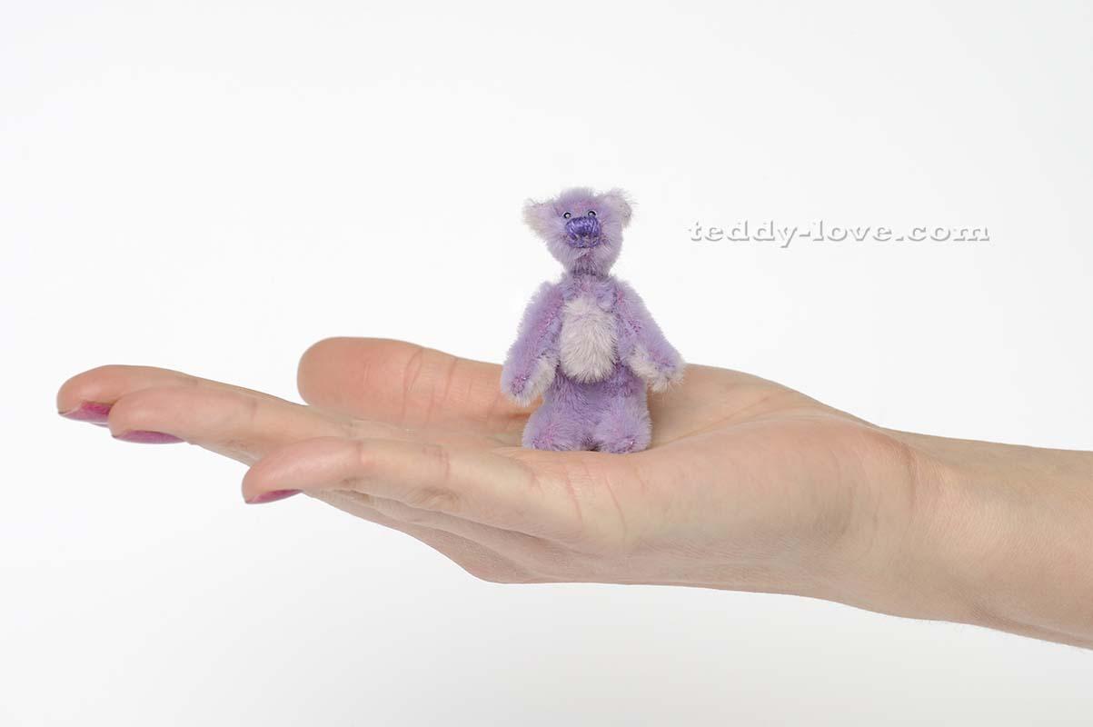 Миниатюрный медведь Тедди ручной работы, Флориан, 7 см