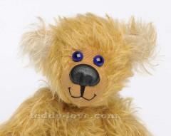 Нос из кожи - как сделать Кожаный нос для медведя Тедди, мастер - класс. Как вышить рот мишке Тедди, Рот медведю Тедди
