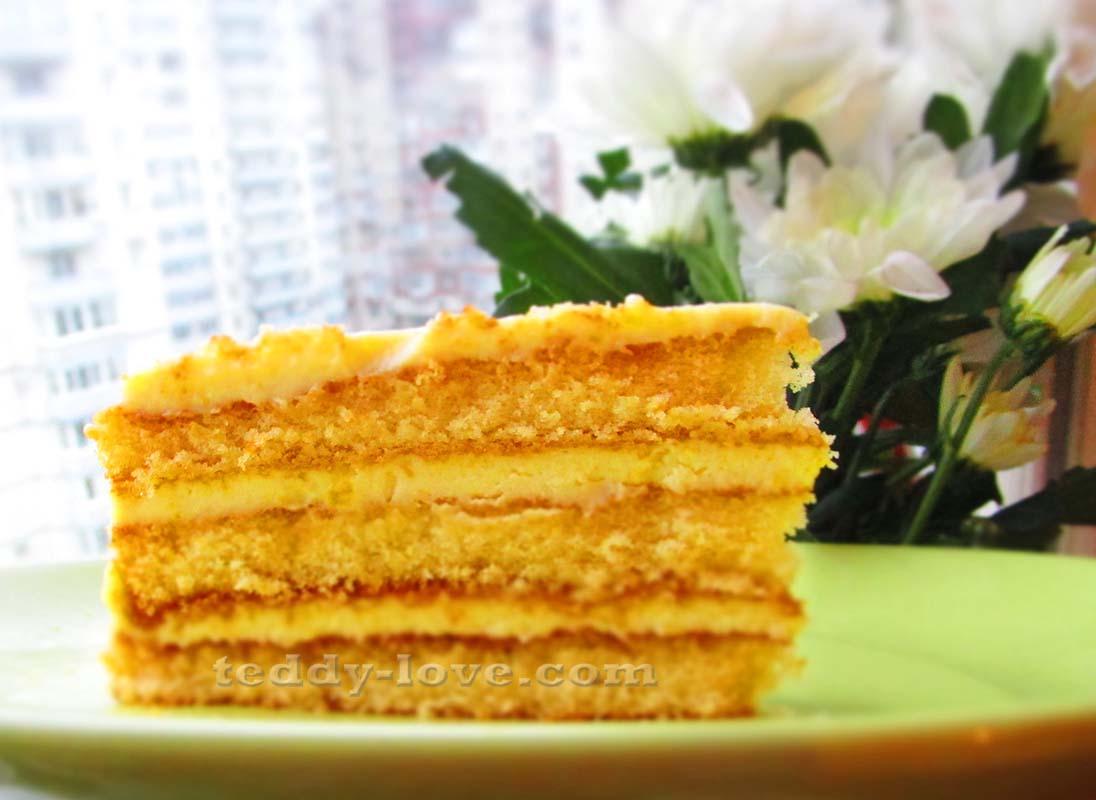 Торт за 5 минут с лимонным кремом