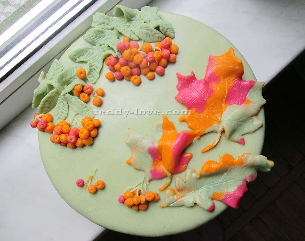 Осенний торт из мастики