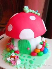 Торт из мастики гриб своими руками дома