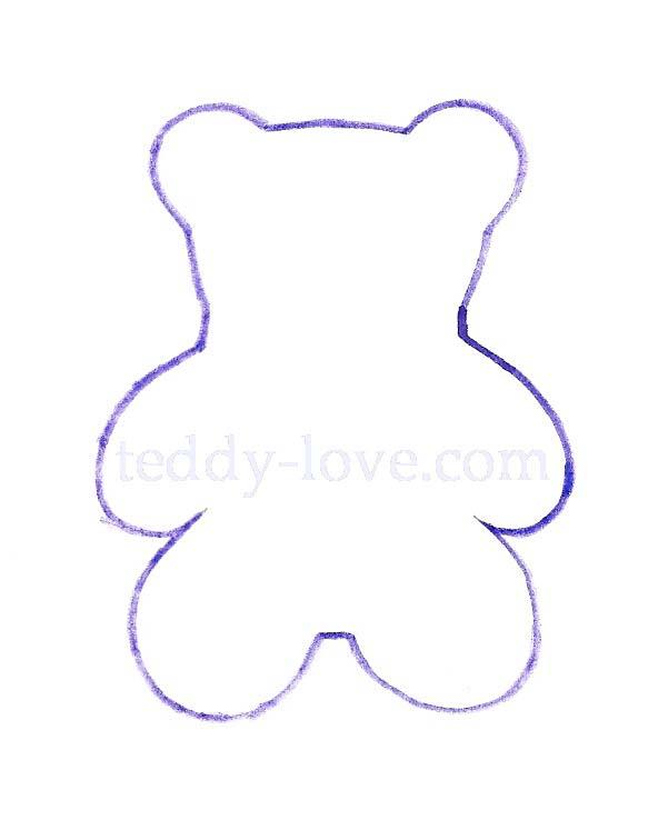 Выкройка белого медведя своими руками