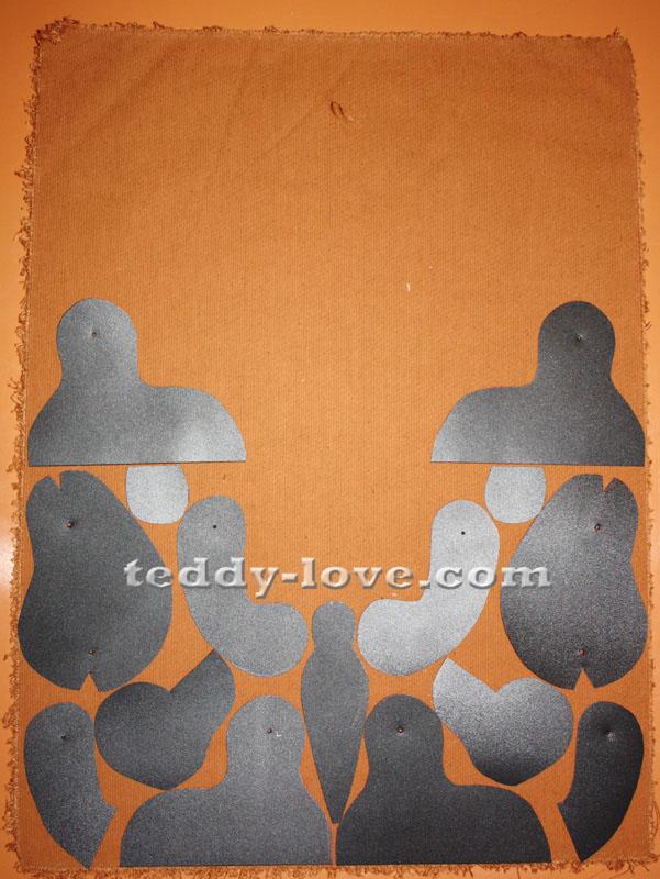 Вариант экономной раскладки для выкройки Мишки Тедди
