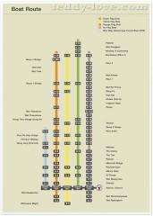 Водный транспорт Бангкока карта маршрутов