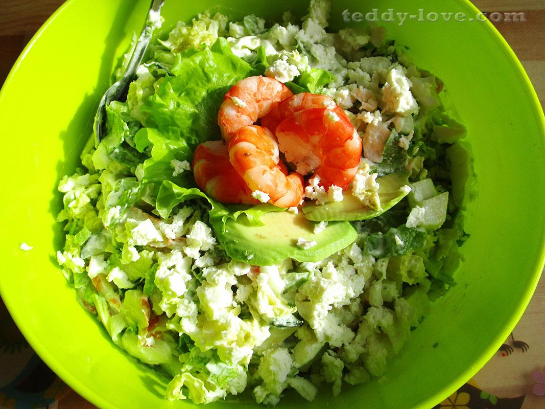 Рецепты салатов с из креветок