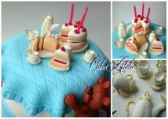 Детский торт из мастики