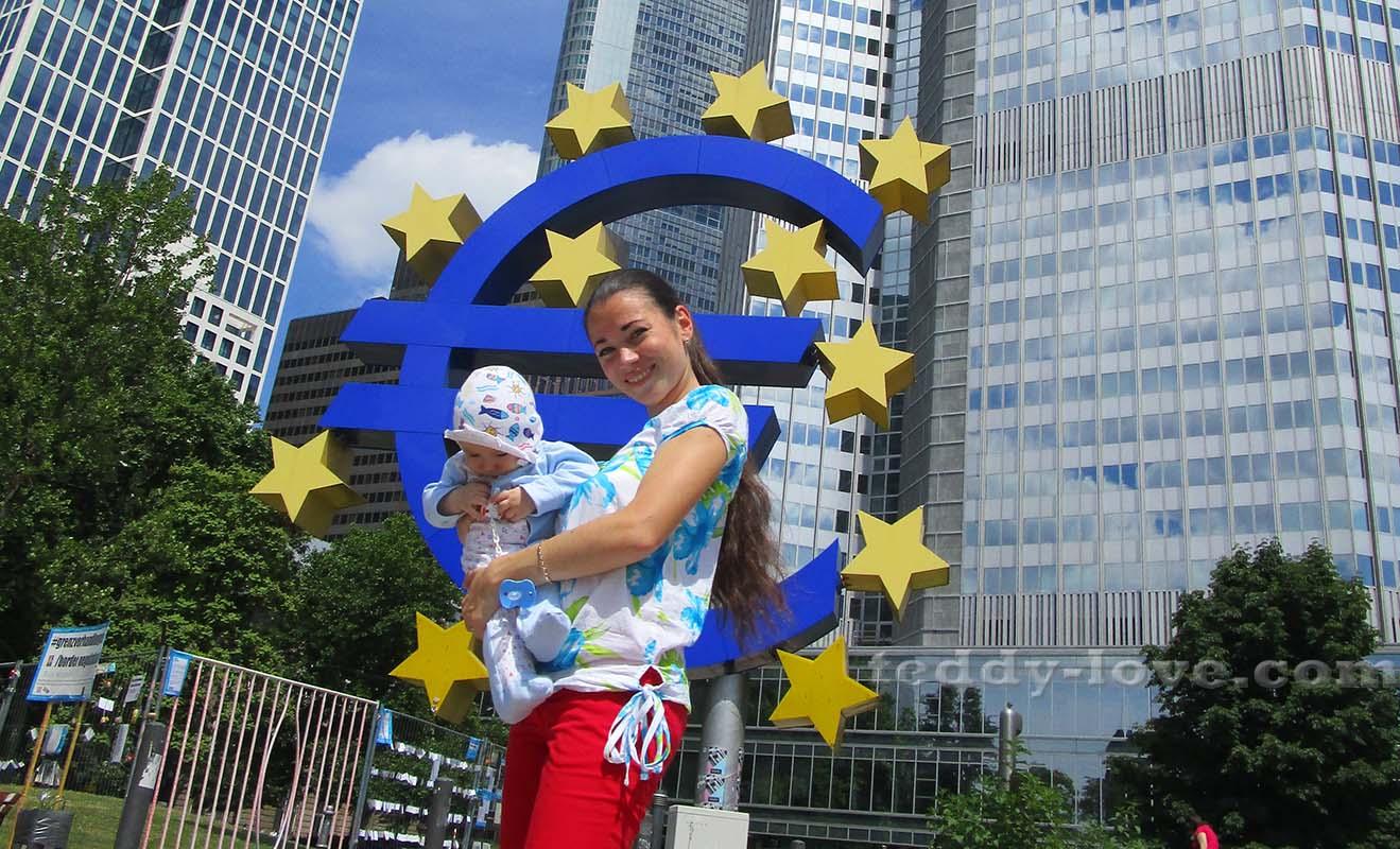 Памятник евро