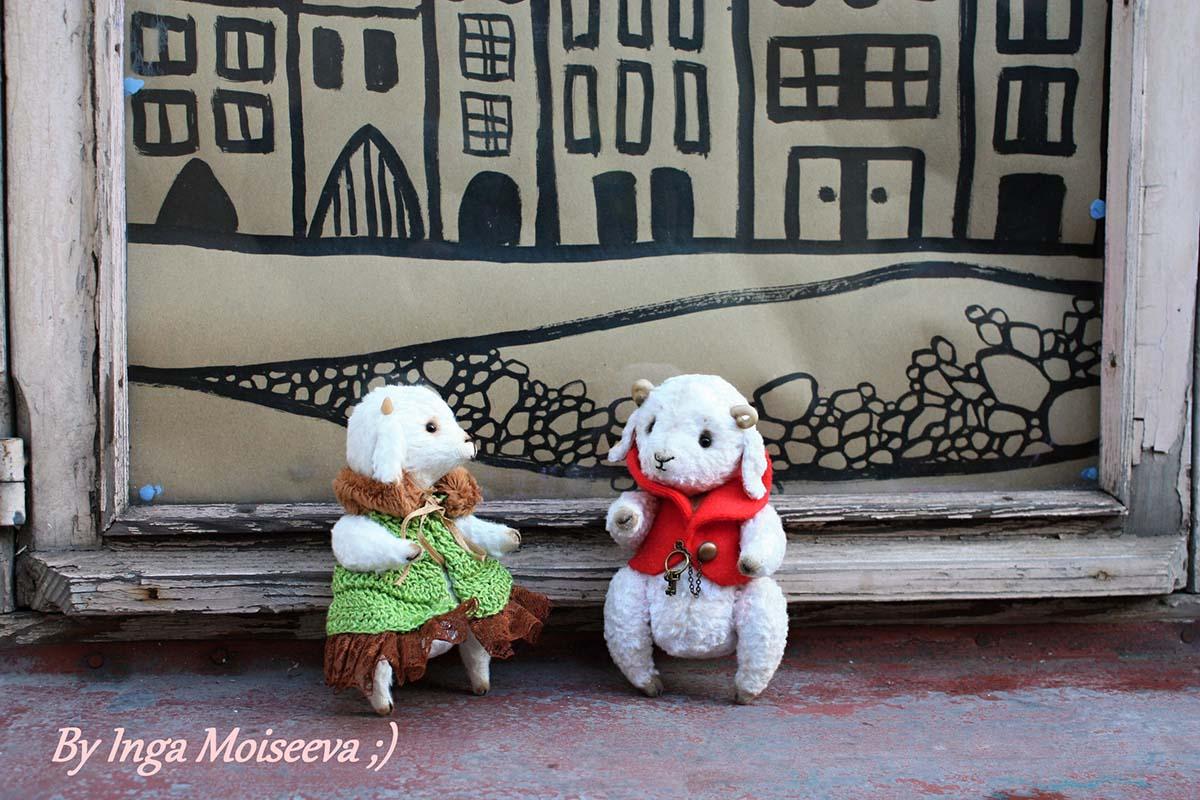 Бычок-тедди от Ю.Святоха и козочка по ее выкройке, Таллин, Эстония