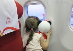 в самолете с ребенком, с детьми в китай