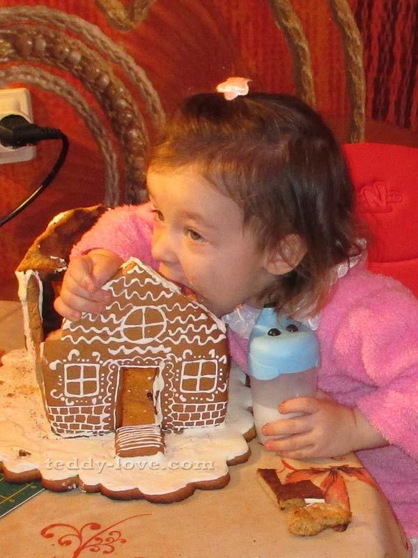 Пряничный домик рецепт с фото своими руками