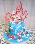 Морской торт, курсы по декорированию тортов в Петербурге