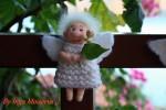 Мастер - класс Ангел - как сделать брошь или магнит из шерсти