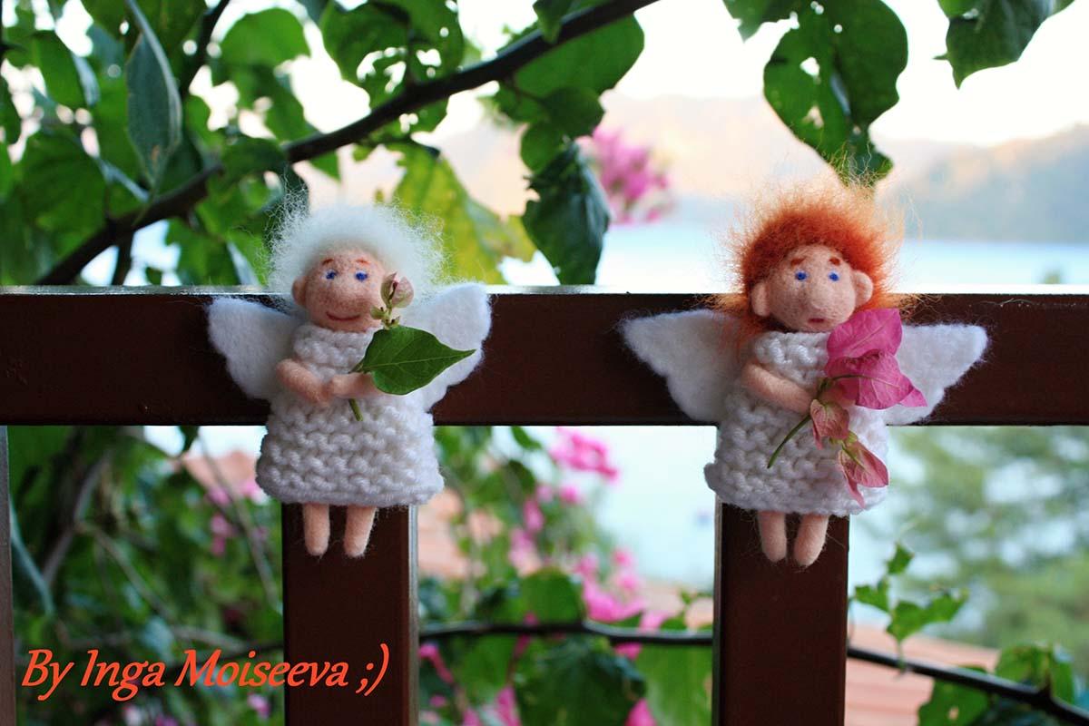 Ангел из шерсти своими руками