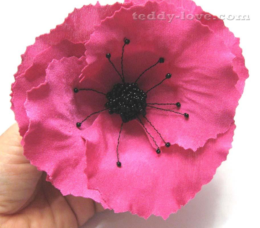 Цветок роза своими руками из ткани