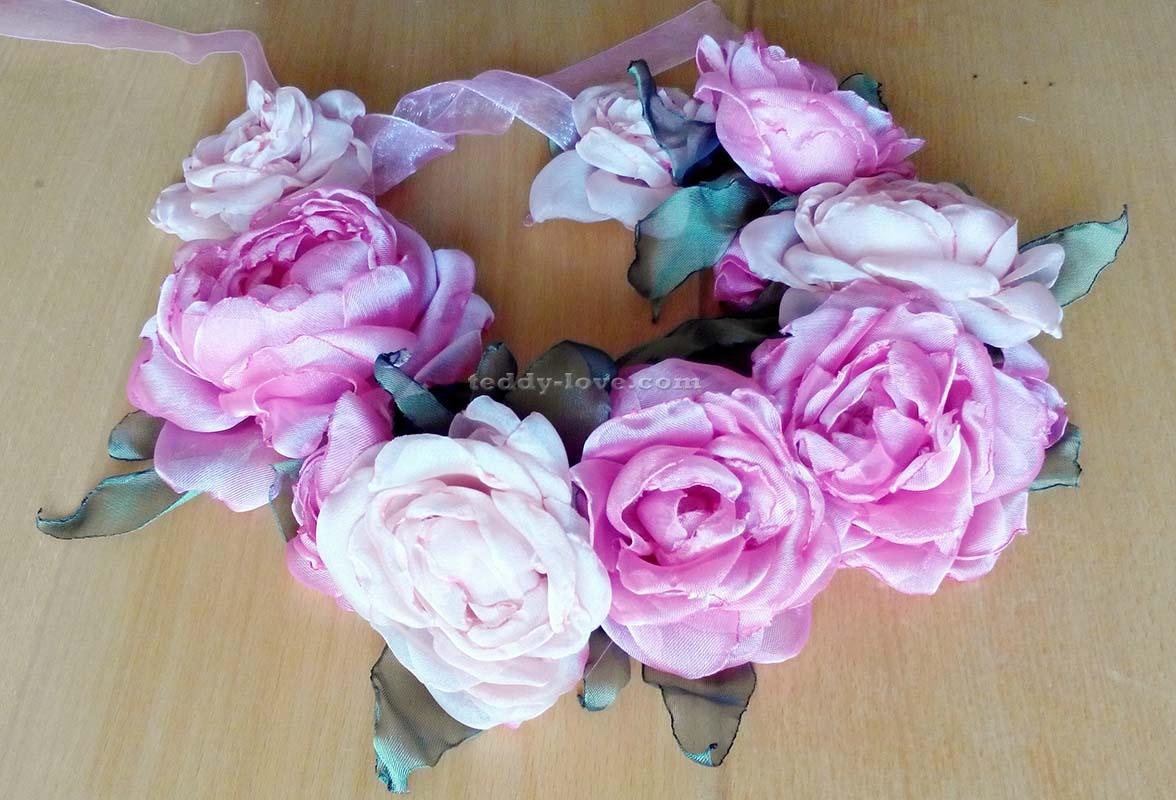 Венки с розами на голову своими руками
