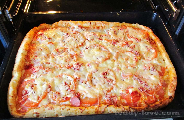 Быстрая пицца в духовке рецепт пошагово