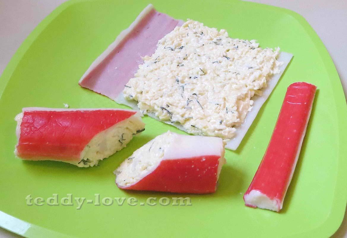 Как сделать закуску из крабовых палочек