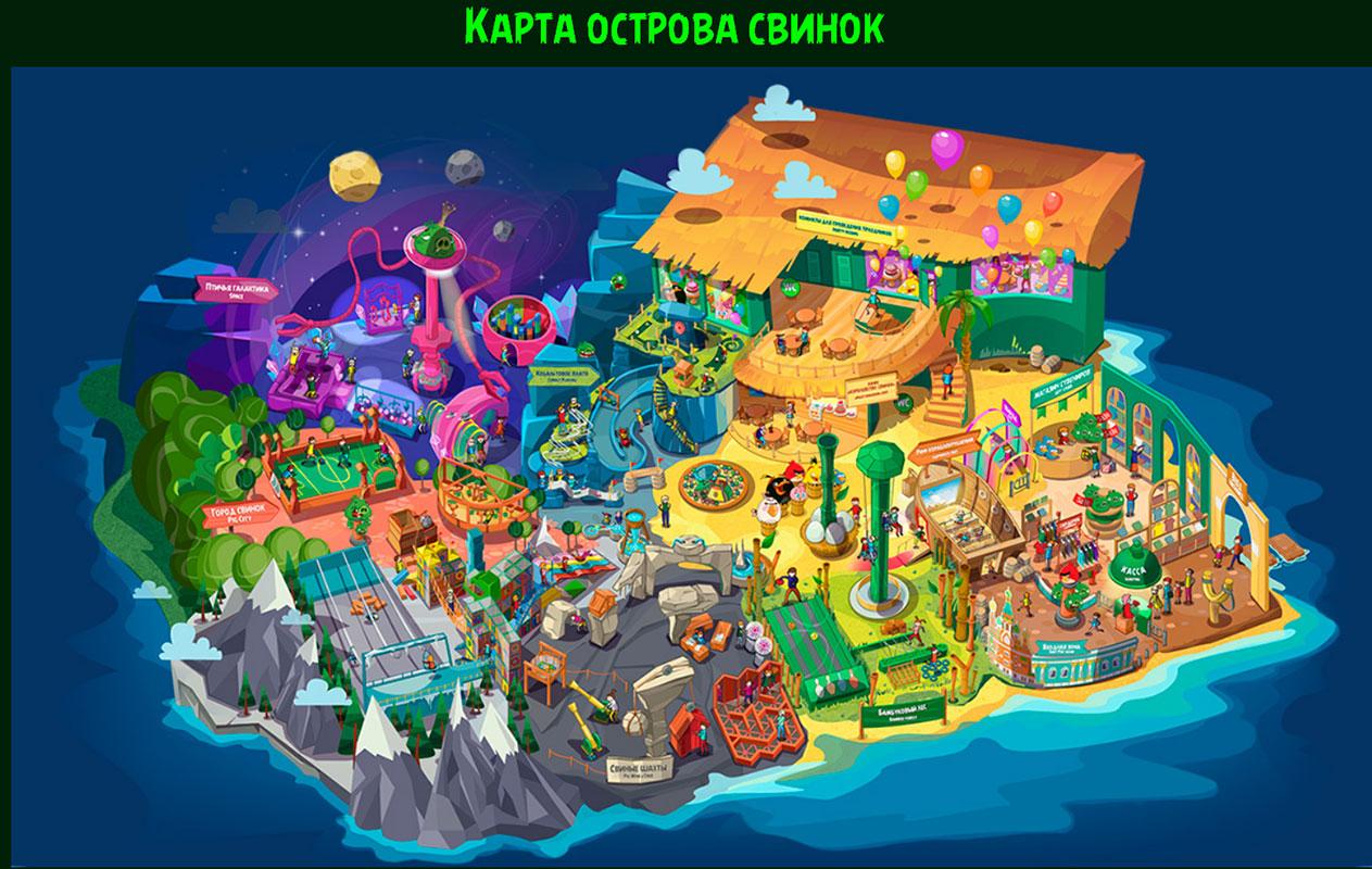 Карта Angry Birds парка