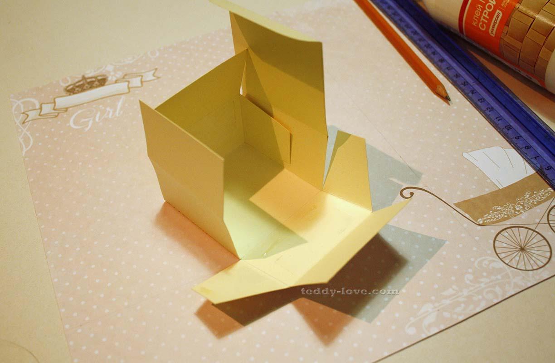 коробочка с крышкой оригами в форме сердца схема