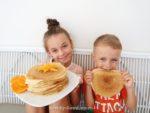 Простой рецепт блинов с апельсинами