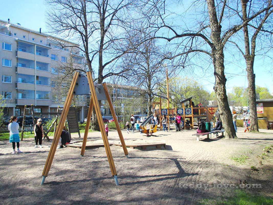 Детская площадка в порту Лаппеенранты