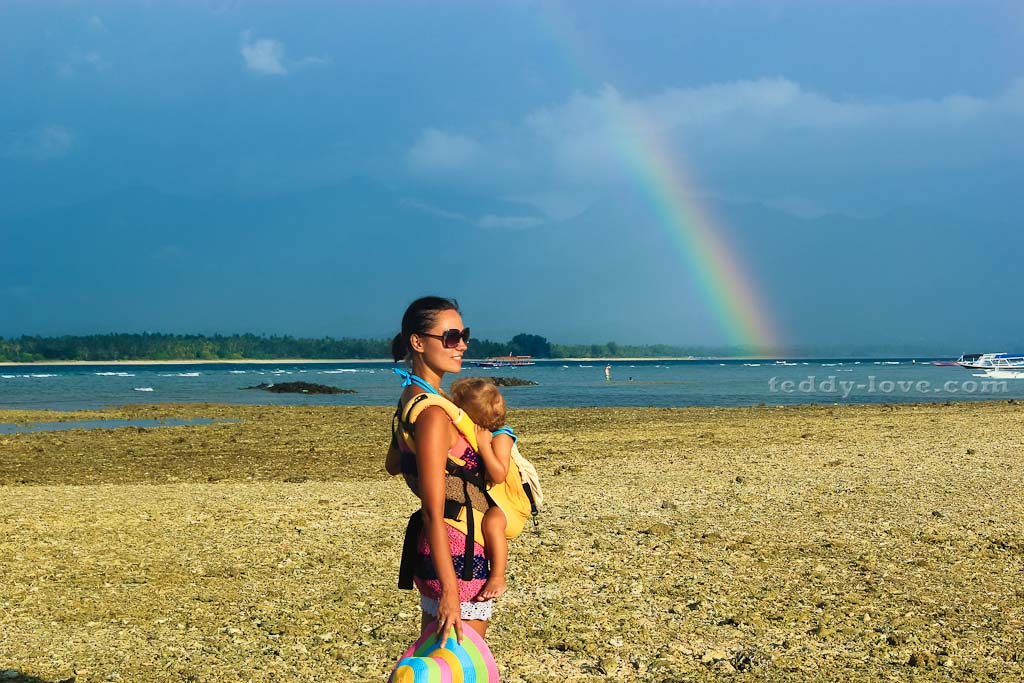 Фантастическая радуга на острове Гили Эйр