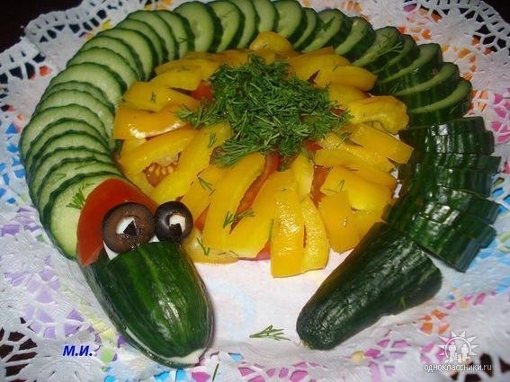 Украшение из овощей своими руками фото