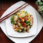 Рецепт мяса с овощами и рисом быстро и просто