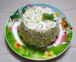 Рецепт салата с перепелиными яйцами