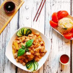 Рецепт свинины с ананасами в кисло-сладком соусе