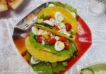 Рецепт закуски в тарталетках с ветчиной, овощами и сыром