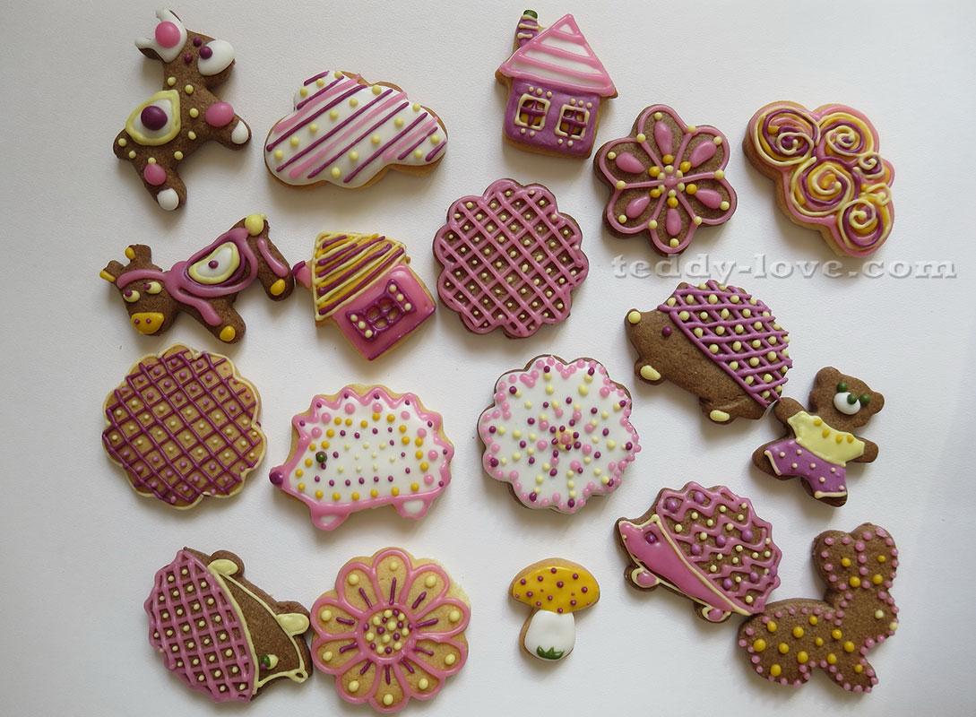 Как сделать печенье с глазурью фото