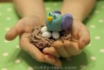 рецепт соленого теста, как слепить птичку с детьми своими руками