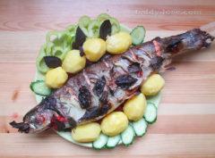 форель в духовке рецепт форели с овощами,как запечь рыбу в духовке рецепт с фото