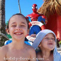С детьми в Доминикану