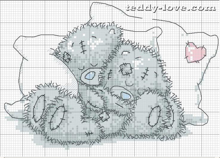 Бесплатные схемы вышивка крестом мишка тедди
