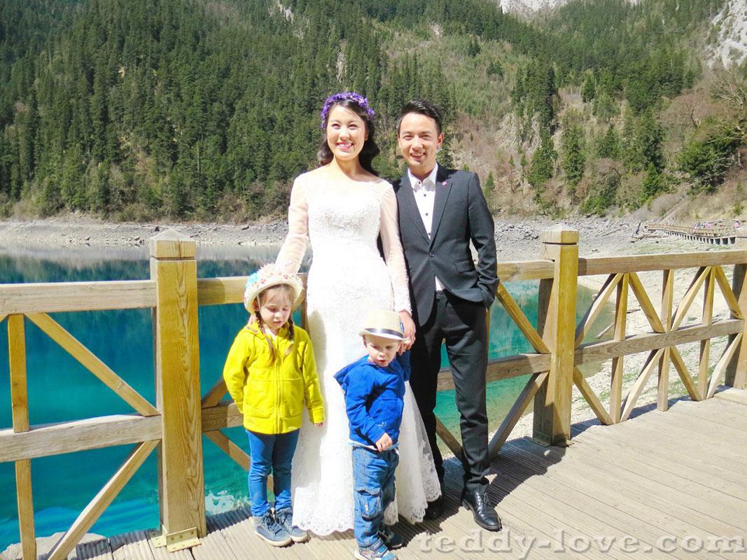 Свадебное путешествие молодых в Чзюцзайгоу. Дети мои)
