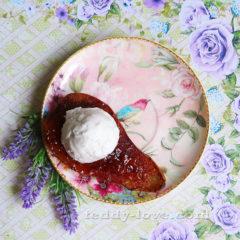 Запеченная груша с домашним мороженным